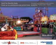 Rapports généraux (petite) - Canadian Association of Fairs and ...