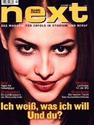 next - Das Magazin für Erfolg in Studium und Beruf - Lehrstuhl für E ...