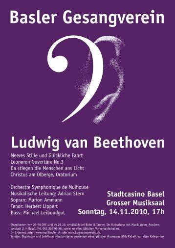 Handzettel - Basler Gesangverein