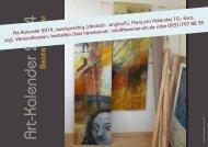 2014 Monatskalender, Einnahmen zu 100 % zugunsten des Erich ...
