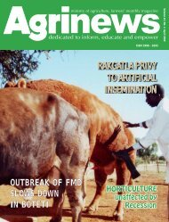 April 2009 Agrinews (.pdf file) - Ministry of Agriculture
