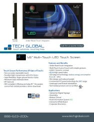 "46"" Multi-Touch LED Touch Screen Call for a quote ... - Tech Global"