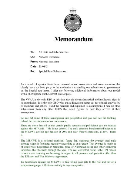 TPI Model Explainatary Memo