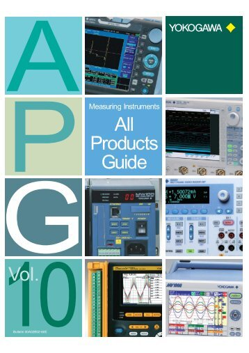 Measuring Instruments All Products Guide Vol.10 - Yokogawa