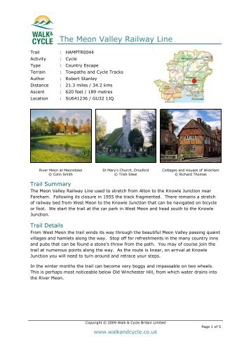 The Meon Valley Railway Line - Walk and Cycle Britain