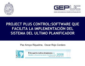 project plus control:software que facilita la implementación del ...