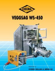 VEGGSAG WS-450 - Sverre Hellum & Sønn AS
