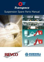 Suspension Spare Parts Manual - Transpecs - TSL