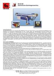 IB 60 UNI Hydraulische Rohrbiegemaschine - UNICORN-ESK, sro