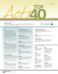 The Acts Top 40 - Bible Study Magazine