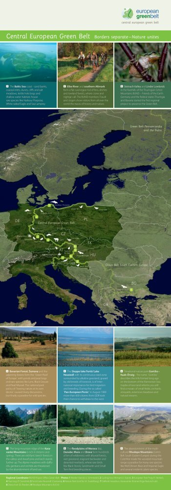 Central European Green Belt Borders separate – Nature unites