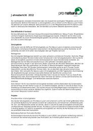 Jahresbericht 2012 - Pro Natura Luzern