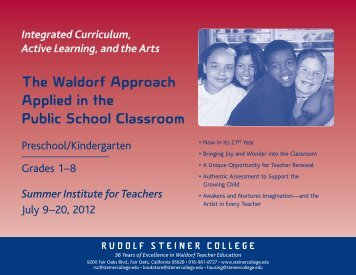 The Waldorf Approach Applied in the Public School Classroom