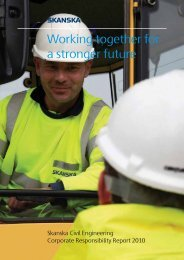 SCE Corporate Responsibility Report - Skanska