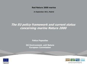 The EU policy framework and current status concerning marine - WWF