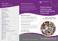 District Health Advisory Council brochure - WA Country Health Service