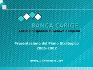 Strategie e programmi del Piano Strategico 2005-2007