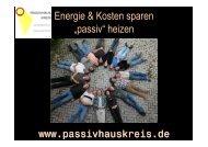 """Energie & Kosten sparen """"passiv"""" heizen - Passivhauskreis"""