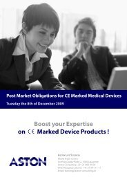 Boost your Expertise on Marked Device Products !