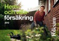 Hem- och villa- försäkring - Folksam
