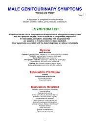 MALE GENITOURINARY SYMPTOMS - Medwords.com.au