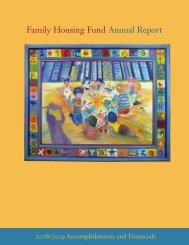 2008-2009 Annual Report - Family Housing Fund