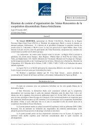Relevé de conclusions - Cités Unies France
