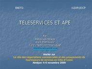 Teleservices et APE, Abdoulaye Ndiaye, Directeur Général ... - ILEAP