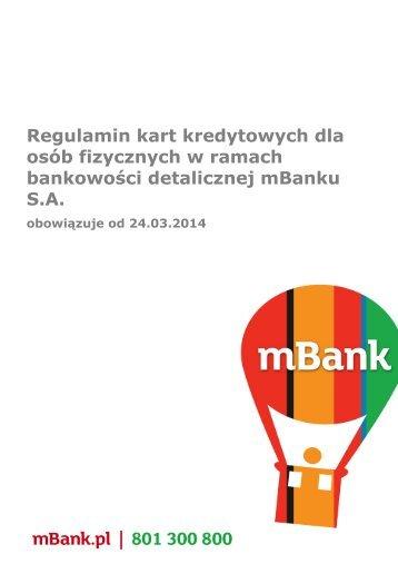 Zobacz Regulamin kart kredytowych mBanku obowiązujący do ...