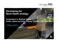 Developing the Barts Health strategy