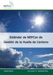 Estándar de NEPCon de Gestión de la Huella de Carbono