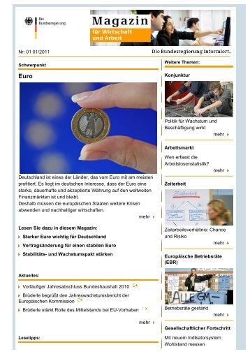 Nr: 01 01/2011 Deutschland ist eines der Länder, das vom Euro mit ...