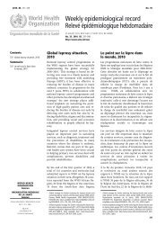 Weekly epidemiological record Relevé épidémiologique ...