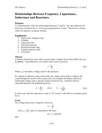 inductance and frequency relationship