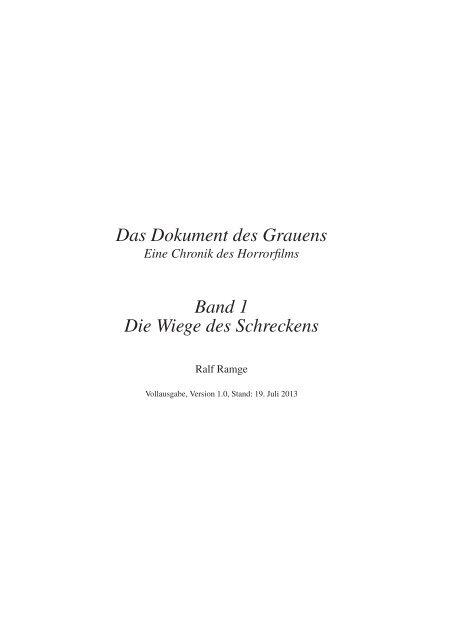 1905 - Das Dokument des Grauens