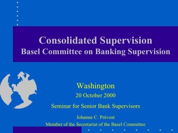 Consolidated Supervision - World Bank