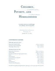 CHILDREN, HOMELESSNESS POvERTY, AND - The Institute for ...