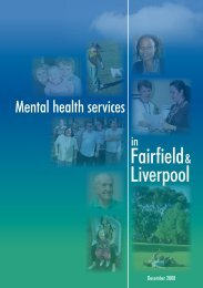 Fairfield Mental Health Service Directory