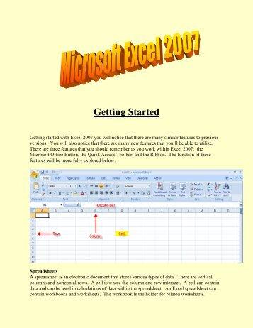 Microsoft Excel 2007 (PDF)
