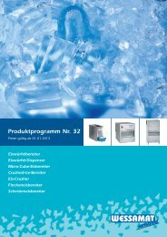 Produktprogramm Nr. 32 - WESSAMAT Eismaschinenfabrik GmbH