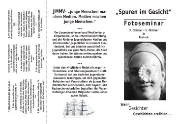 Spuren im Gesicht - Jugendmedienverband Mecklenburg ...