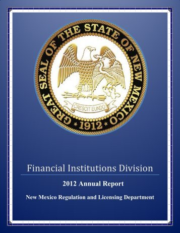 2012 Annual Report - Regulation and Licensing Department