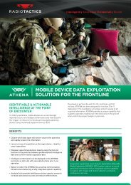 MOBILE DEVICE DATA EXPLOITATION SOLUTION ... - Radio Tactics