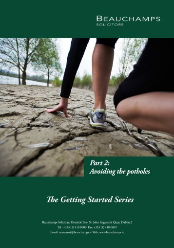 The Getting Started Series_Avoiding the potholes