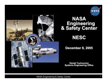 NASA Engineering & Safety Center NESC - NASA Risk ...