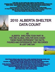 2010 alberta shelter data count - Alberta Council of Women's Shelters