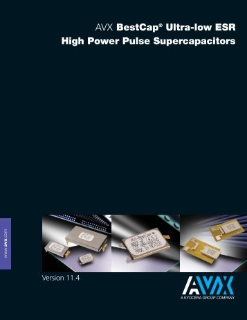 BestCap Ultra Low ESR Supercapacitor - AVX
