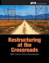 Restructuring at the Crossroads - American Public Power Association