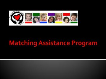 Matching Assistance Program - A Family For Every Child