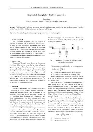 Electrostatic Precipitator: The Next Generation - isesp